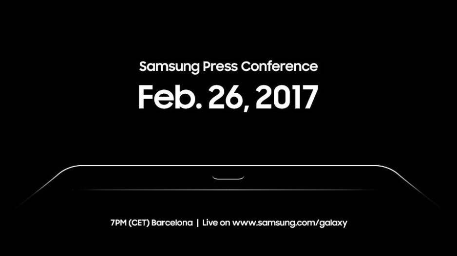 Samsung teases tablet announcement for MWC 2017, Galaxy Tab S3 to be unveiled on February 26