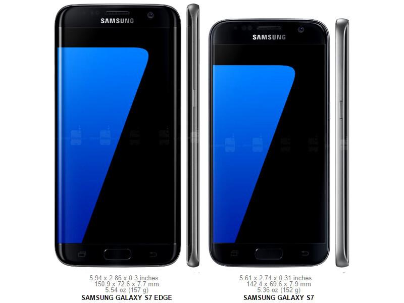 samsung galaxy s8 plus vs s7 edge specs and design
