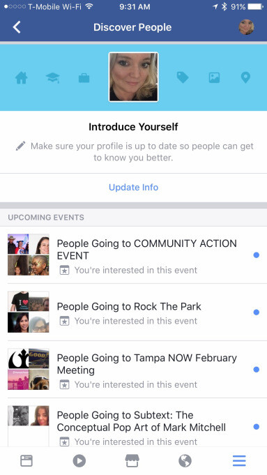 """""""Discover People"""" in action - Facebook's new """"Discover People"""" feature is a new way of doing an old thing"""