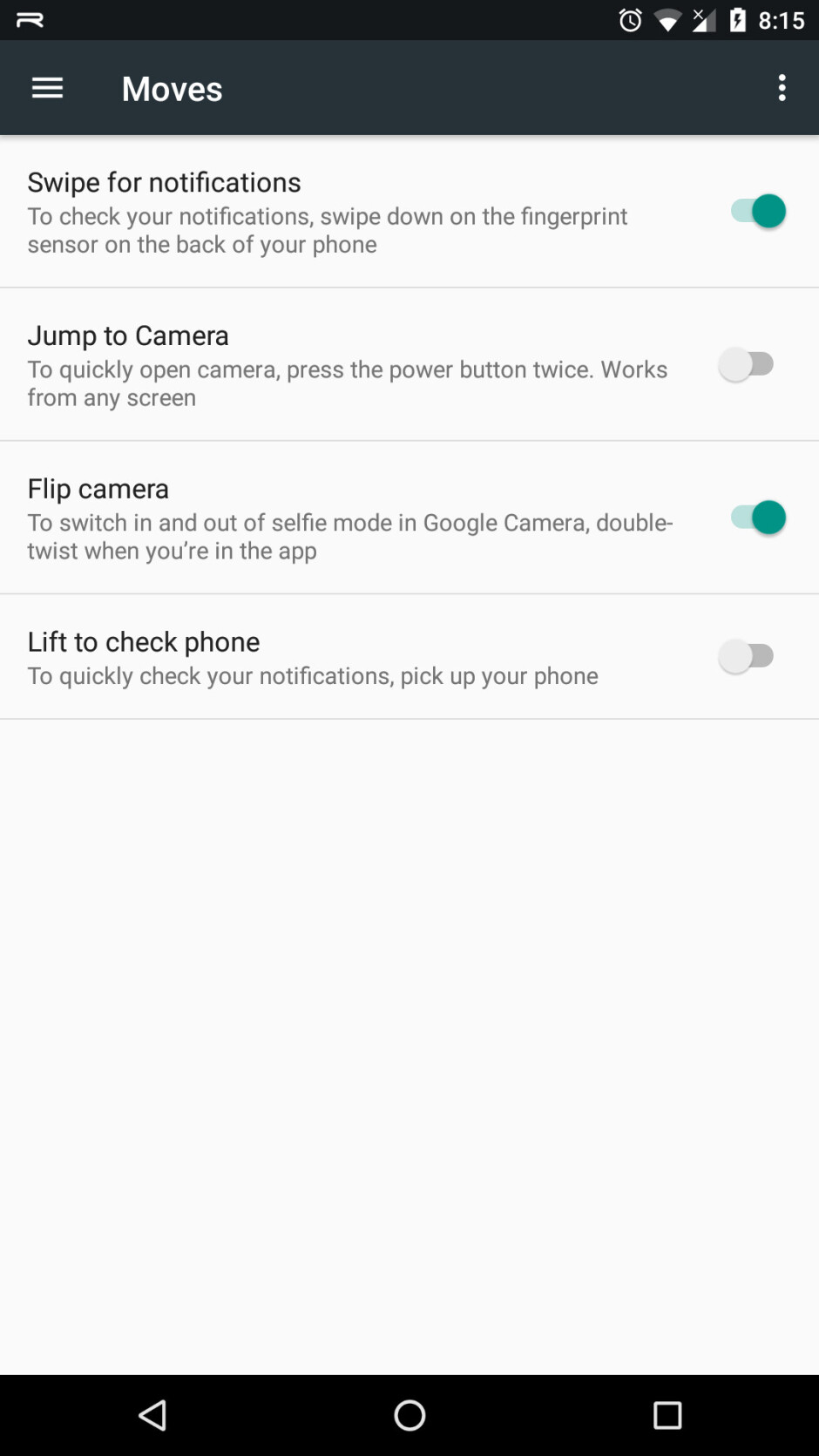 Image courtesy of Reddit user spannerphantom - Android 7.1.2 brings fingerprint gestures over to the Nexus 5X, Nexus 6P likely to follow