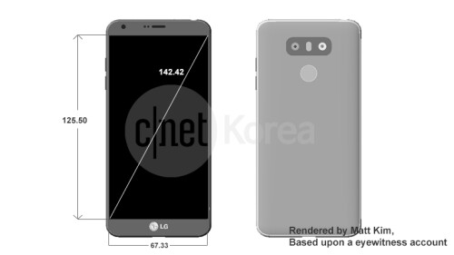 Purported LG G6 dimensions