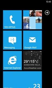 The evolution of Windows Phone's start screen: WP7