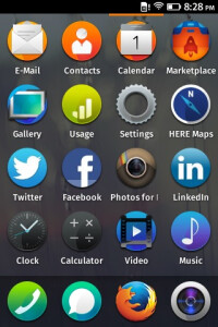 Firefox OS' home screen