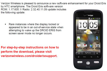 HTC DROID ERIS receives a new firmware update