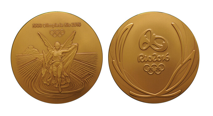 Gold medals from the Rio 2016 Olympic games - Recycled smartphones to be used for Tokyo 2020 Olympic medals