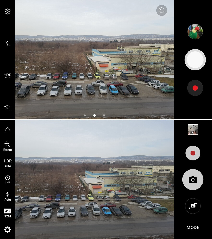 Galaxy S7 w/ Nougat (top), Galaxy S7 with Marshmallow (bottom) - Samsung Galaxy S7 before and after the Android Nougat update: here's what's changed