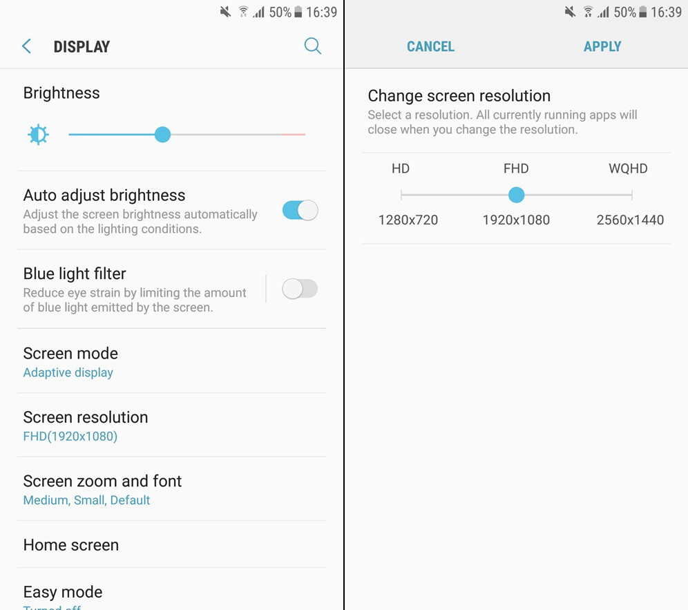 Galaxy s7 before and after the android nougat update heres samsung galaxy s7 before and after the android nougat update heres whats changed biocorpaavc Gallery