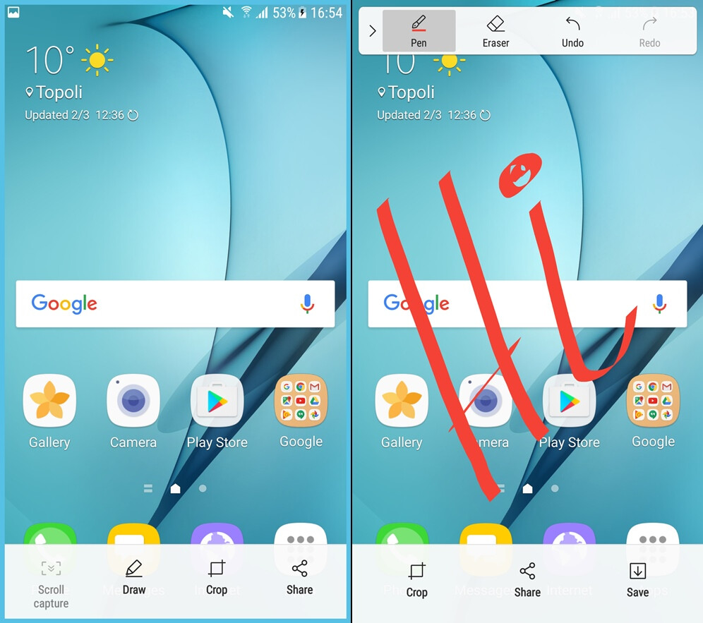 Samsung Galaxy S7 before and after the Android Nougat update: here's