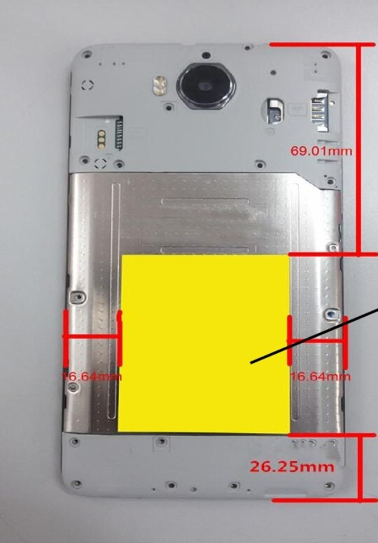 Photo shows removable back and marker for FCC label - FCC listing reveals Huawei could bring an entry-level smartphone to the US