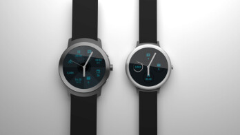 LG Watch Sport on left, LG Watch Style on right