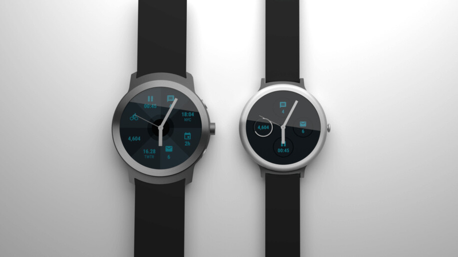 LG Watch Sport on left, LG Watch Style on right - Android Wear 2.0 and LG's new watches could be unveiled a day earlier on February 8th?