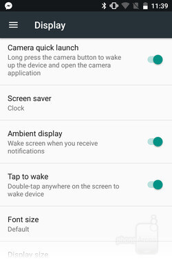 Ambient Display in Sony's Concept for Android lights up the screen when a notification arrives. - A look at Sony's Concept for Android: features, differences, and advantages