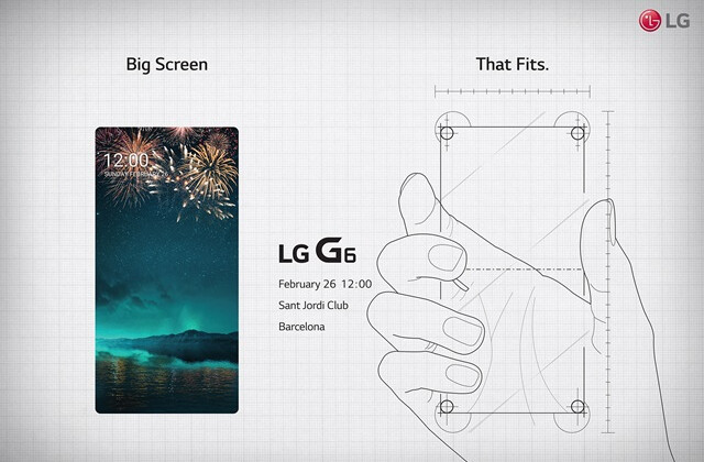 """LG G6 teased in MWC 2017 invite: """"Big screen that fits"""""""