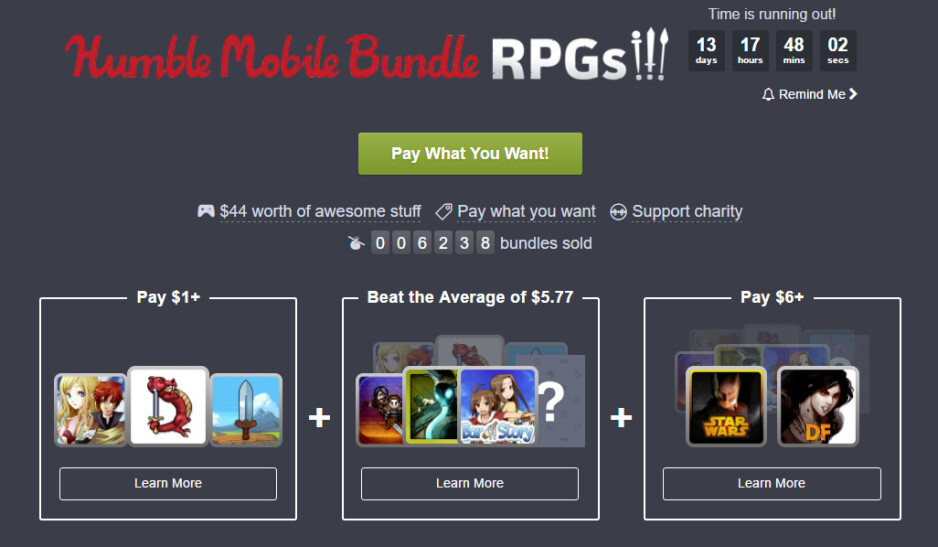 Newest Humble Mobile Bundle for Android gets you loads of great RPGs for just $6