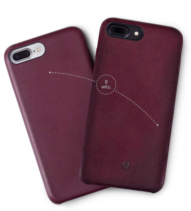 RelaxedLeather case ages well - This genuine leather case for iPhone 7 and 7 Plus looks great and ages well