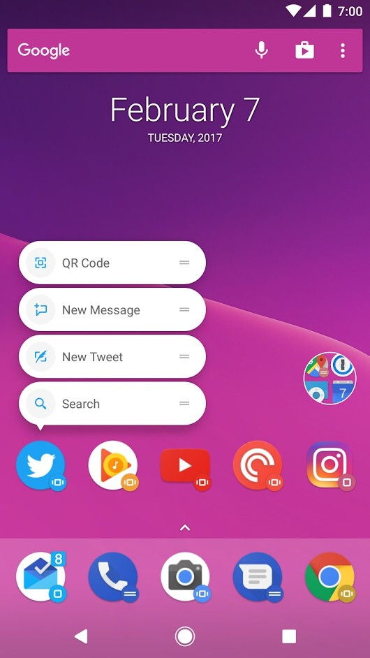 Action Launcher 3.13 beta screenshot - Action Launcher 3.13 beta released with many UI and App Shortcuts enhancements