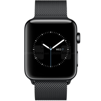 Apple Watch Series 3 with Black Milanese loop band