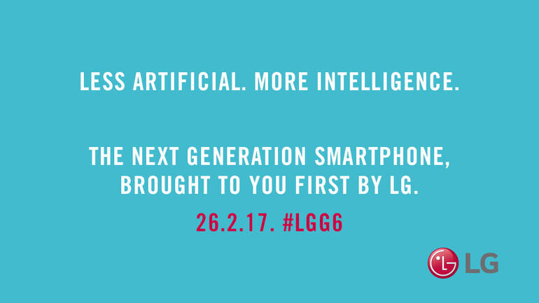 """A new teaser for the LG G6 says that the phone will be """"less artificial"""" with """"more intelligence"""""""