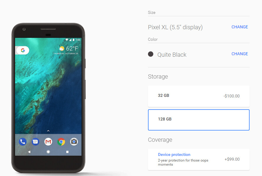 Some versions of the Google Pixel XL are now available from the Google Store - Google restocks; some Pixel XL models are available again from the Google Store