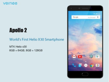 The Vernee Apollo 2 will debut at MWC 2017 with 8GB of RAM and the Helio X30 CPU