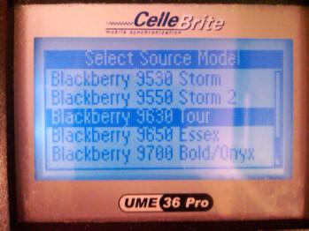 Cellebrite options include BlackBerry Tour2 9650; Verizon launch coming?