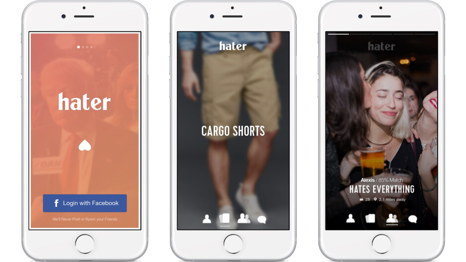 """""""Hater"""" is a dating app for people that love to hate"""