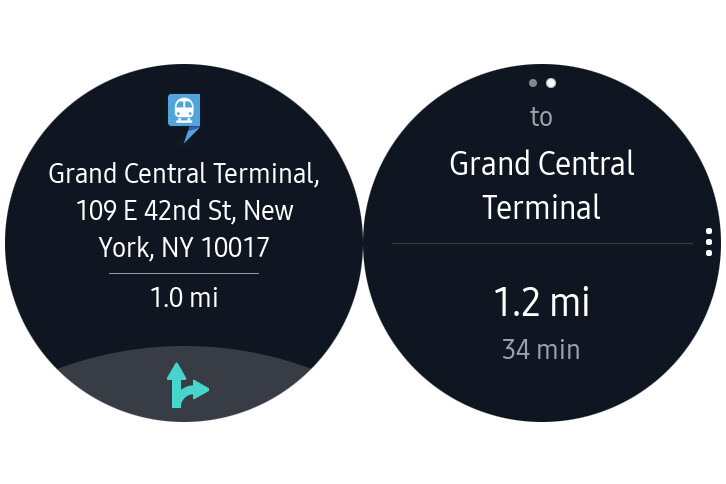 HERE WeGo app for Gear S3 updated with companion mode and public transport information