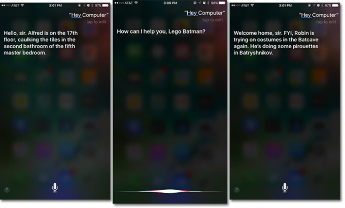 "Apple's Siri gets custom Bat-phrases following ""Lego Batman Movie"""