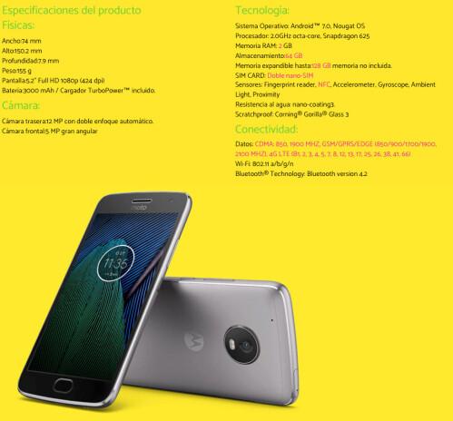 Motorola Moto G5 and Moto G5 Plus leak out: design, specs ...