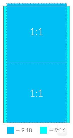A 9/18 screen inside of a standard 9/16 screen