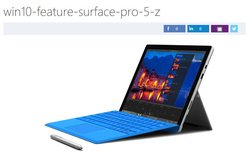 Image allegedly of the Surface Pro 5