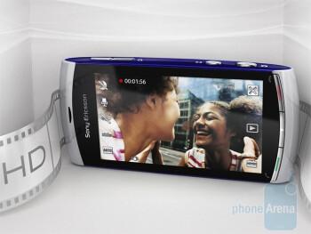 The Sony Ericsson Vivaz sports 720p HD video recording