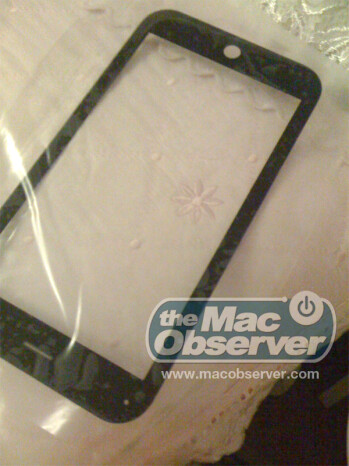 More pictures of glass screen for Apple tablet show 10 inch screen