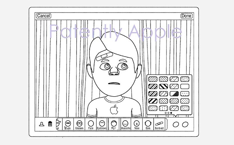 Example interface for an avatar creation tool for iPad - Apple secures patent for curious avatar creation tool