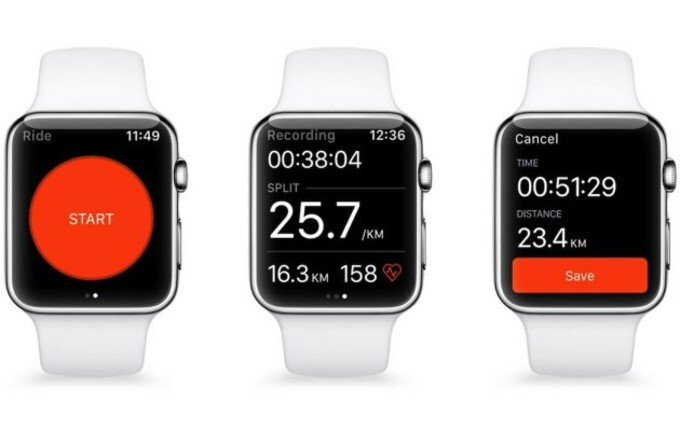 Strava users can now track runs and biking sessions with the GPS-enabled Apple Watch Series 2