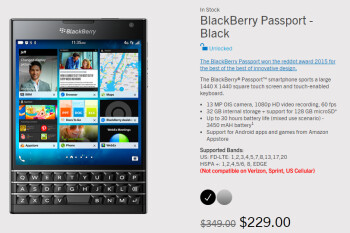 Save 34% with the 48-hour flash sale on the unique BlackBerry Passport