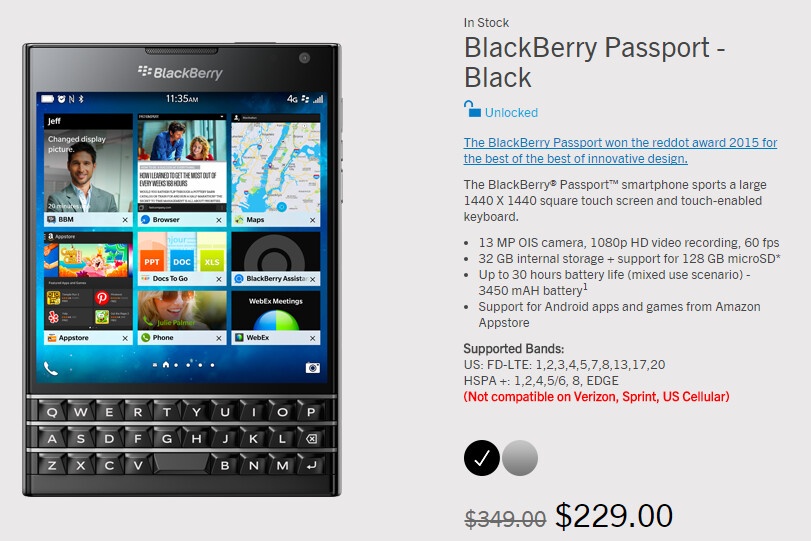 Save 34% with the 48-hour flash sale on the unique BlackBerry Passport - BlackBerry Passport flash sale runs for 48-hours, takes 34% off the price