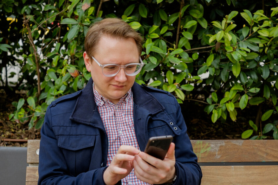 This is how Stephen looks while studying the Barcelona map. - PhoneArena at Mobile World Congress: We landed in Barcelona