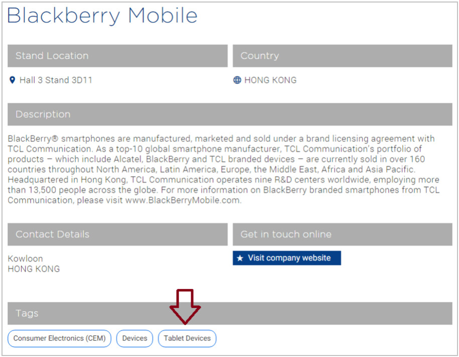 Does BlackBerry's MWC listing suggest that there is another tablet in the company's future? - TCL to produce a BlackBerry tablet?