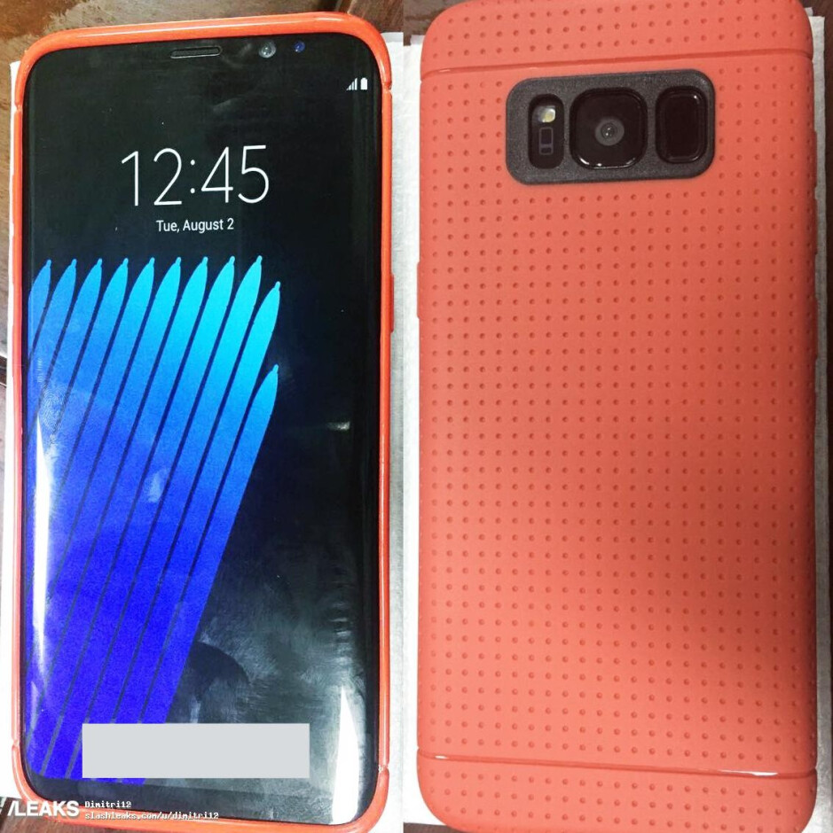 Samsung Galaxy S8 smiles for the camera all dressed up in protective case