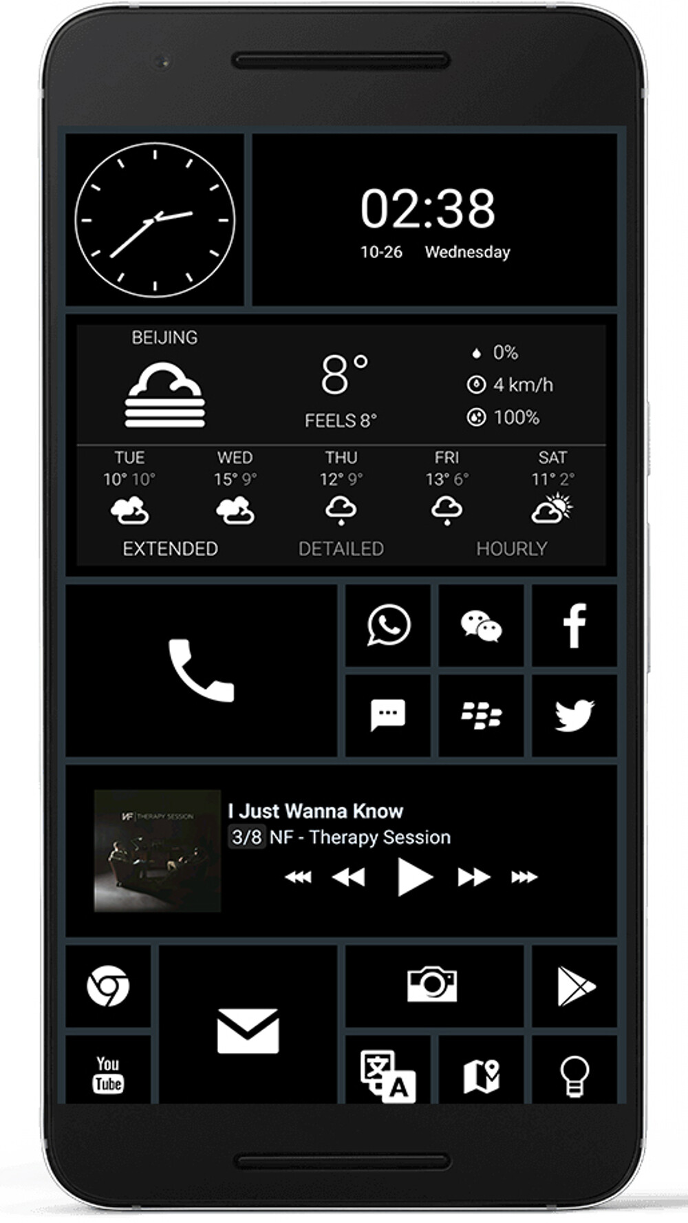 10 beautiful custom Android home screen layouts #5