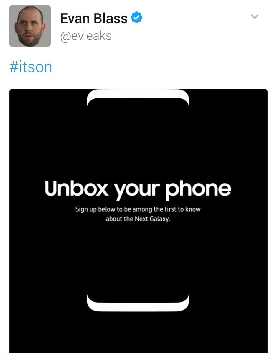 Galaxy S8 info signup page leaks, hints at top screen-to-body ratio