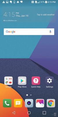 The user interface on the LG G6