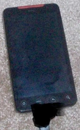 Super grainy shots of the HTC Supersonic?