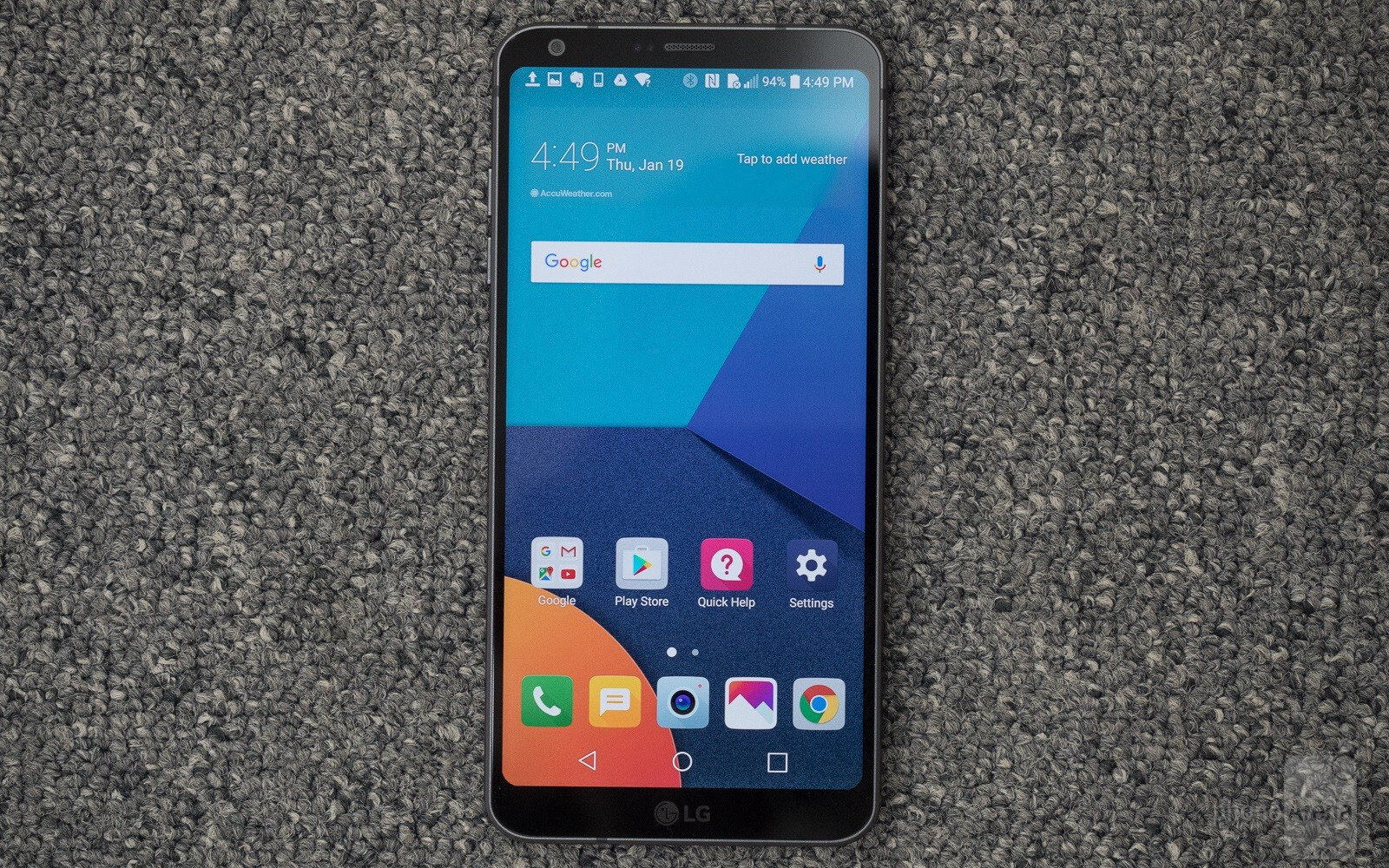 how to show apps on lg g6