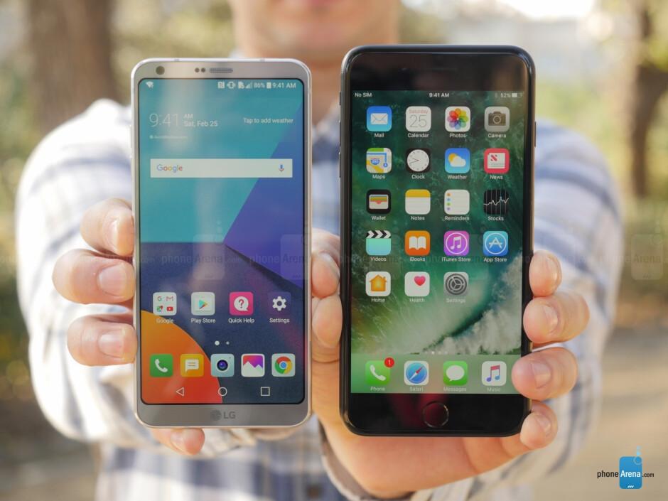 LG G6 vs iPhone 7 Plus: Bezel-less vs Bezel-ful