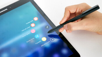A pro tablet surfaces: the Samsung Galaxy Tab S3 has quad speakers, S Pen, keyboard