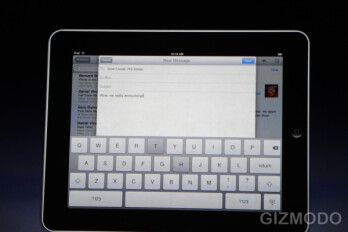 Steve Jobs web browsing and emailing on the iPad