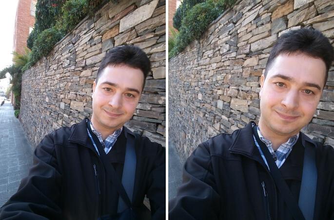 """LG G6 wide selfie and """"normal"""" selfie - LG G5 vs LG G6: first look"""