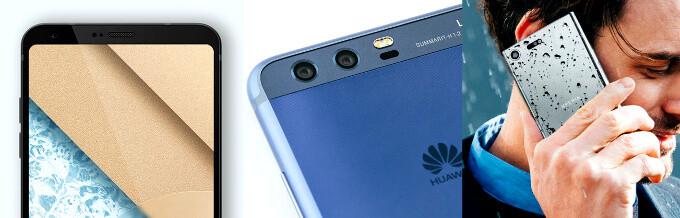 LG G6 vs Huawei P10 vs Sony Xperia XZ Premium, left to right - Sony Xperia XZ Premium vs Huawei P10 Plus vs LG G6: three-way specs comparison showdown of MWC's finest